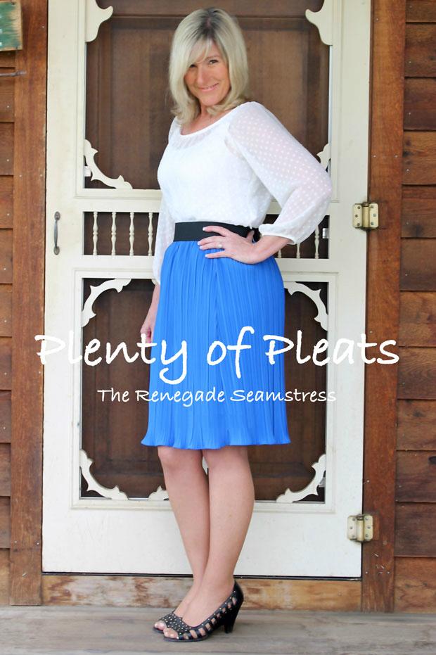 Как переделать старую плиссированную блузу в модную летом 2014 юбку