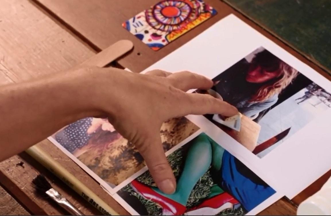 Способы приклеивания фотографий на листе