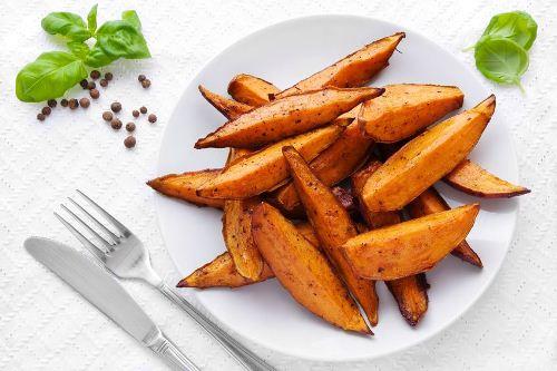 печеный сладкий картофель