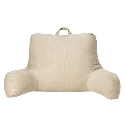 Можно сверху для облегчения переноски пришить к подушке посередине широкую петлю из кожи или строенной ткани