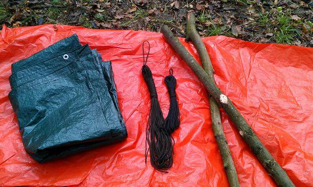 Как сделать элементарный и легкий непромокаемый переносной гамак для походов - исходные материалы