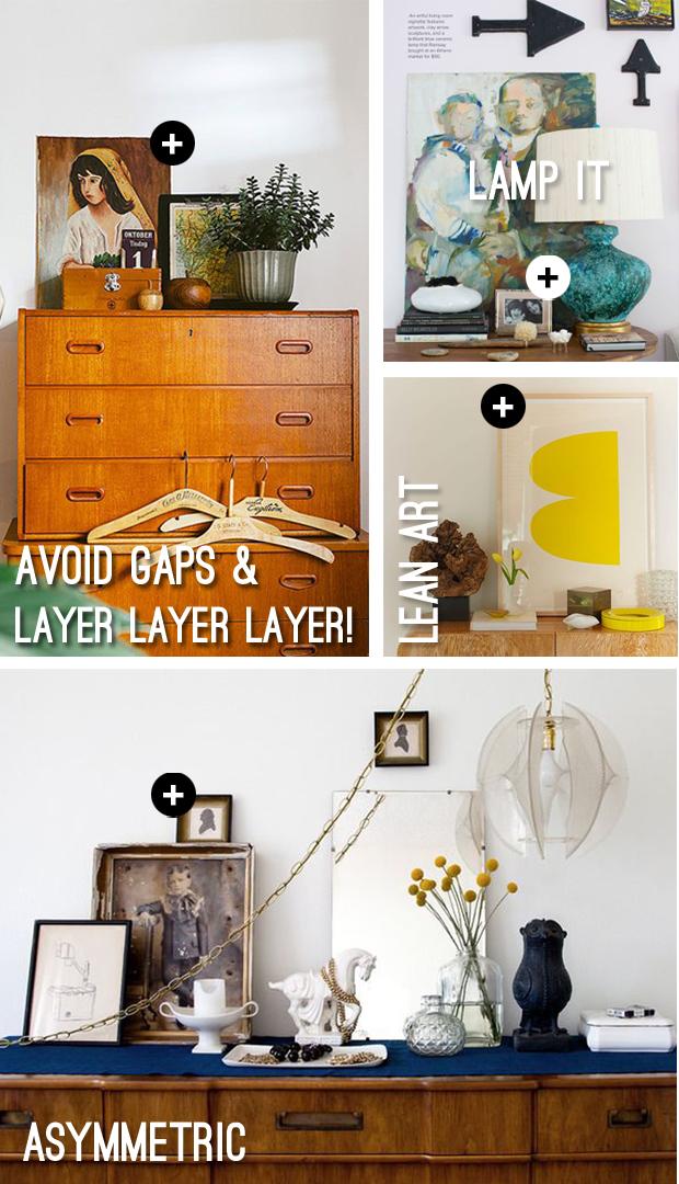 Как грамотно расставлять предметы на тумбочках, столах, полках: дизайн