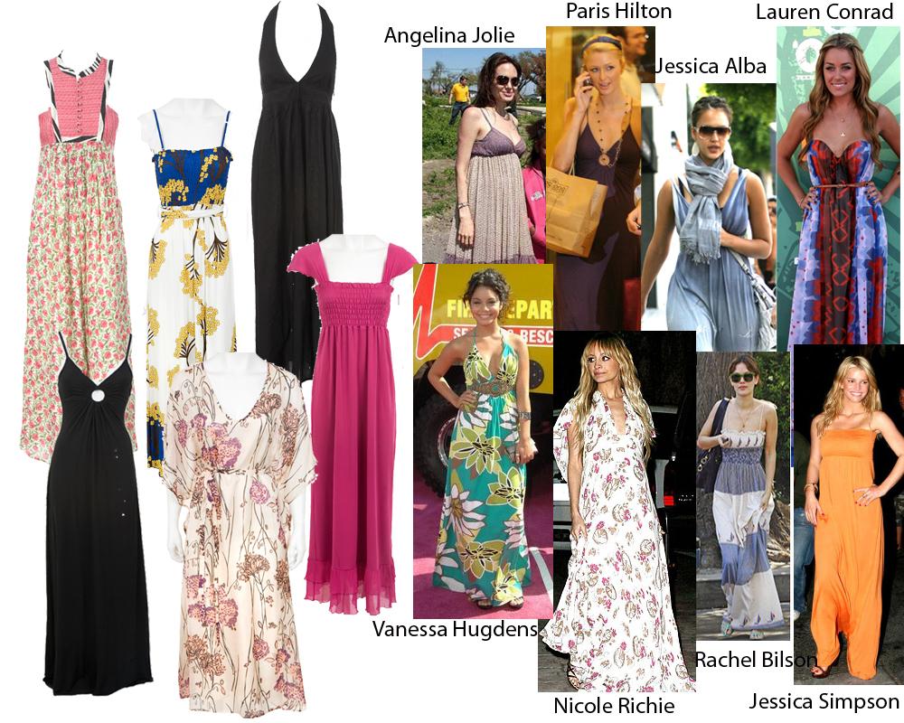15 модных женских трендов, которые выглядят ужасно: Макси-платья кричащих расцветок