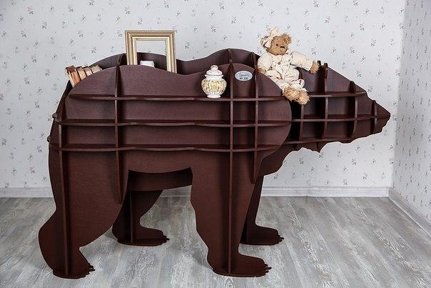 Артем Коренец, техника создания различных объемных предметов из плоских деталей: полка-медведь