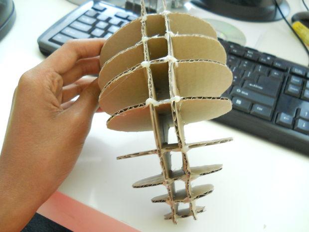 3D голова оленя - объемная - склеенная из плоских деталей