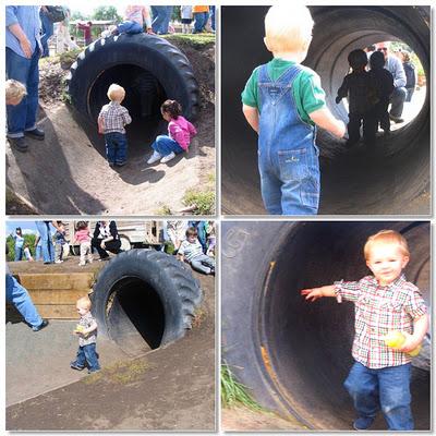 Тоннели из автомобильных покрышек/шин для детских площадок - украшения для бетонных труб