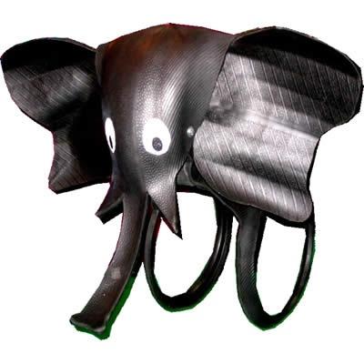 качели-шедевры из шин в виде зверей и техники: слон