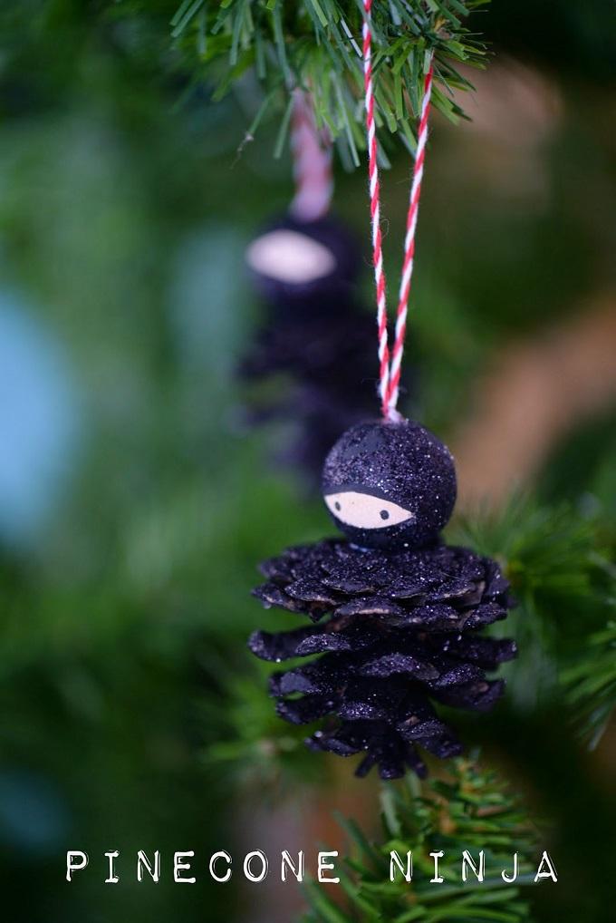 Как из шишек делать фигурки и елочные игрушки - ниндзя