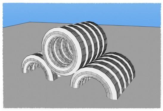Тоннели из автомобильных покрышек/шин для детских площадок - только из шин