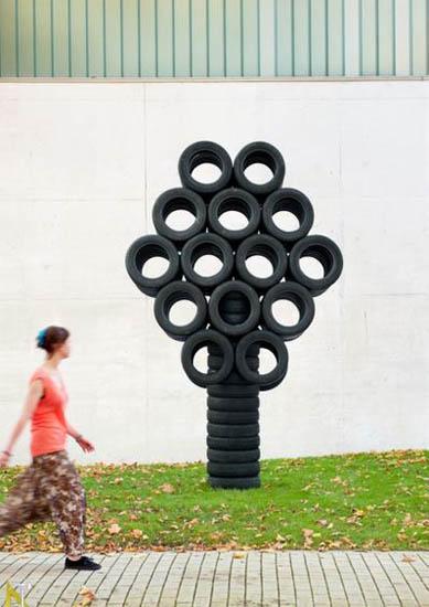 схематичное дерево из шин
