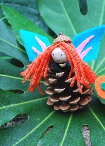 Как из шишек делать фигурки и елочные игрушки - Яркие лесные феи
