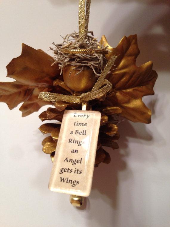 Как из шишек делать фигурки и елочные игрушки - ангел
