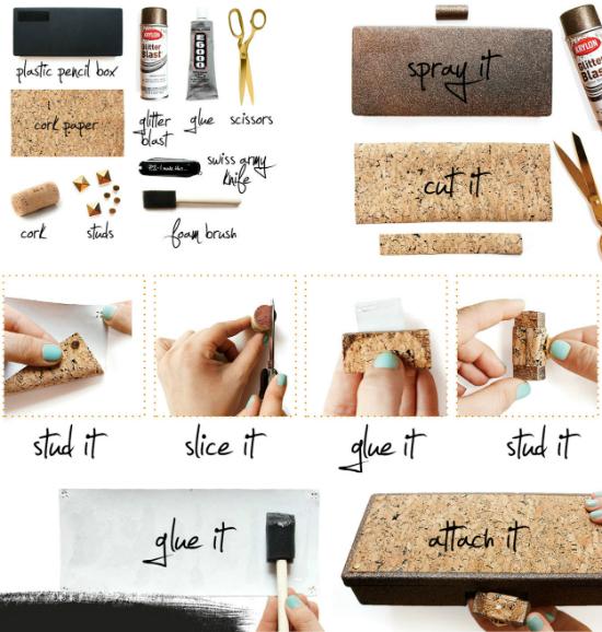 «Пробковый» клатч своими руками: пошаговый процесс создания в картинках с писанием