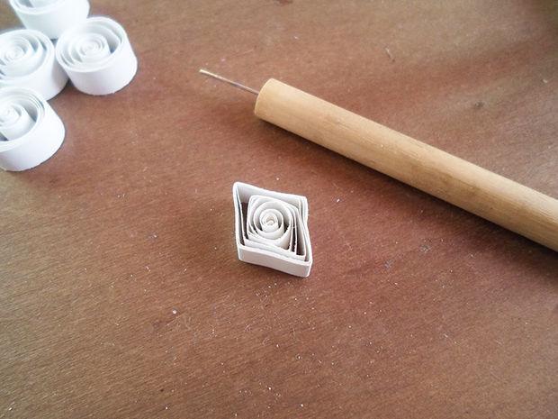 делаем ромбы по технике квиллинг
