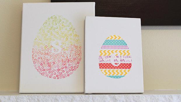 Как создавать простые Пасхальные картины: детское творчество, детские поделки