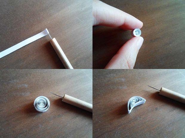 Скручиваем и складываем серповидную луну по технике квиллинг