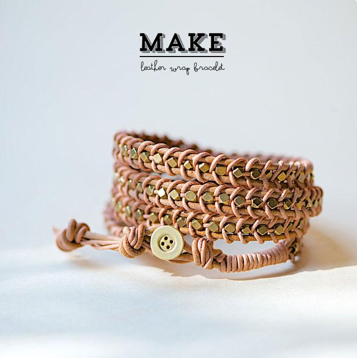 Как сделать плетеный кожаный браслет своими руками