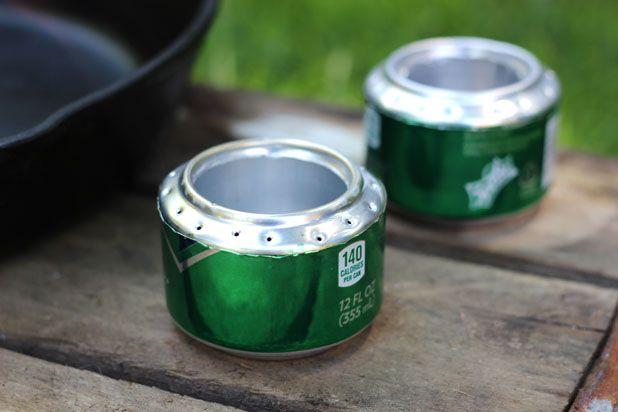 Как сделать портативную походную конфорку из банки из-под газировки или пива
