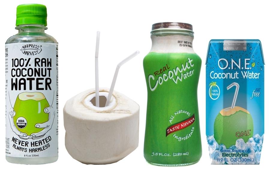 кокосовая вода с целым рядом различных брендов