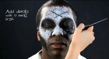 костюм на Хэллоуин - макияж Папаши Легба: Х шрамы