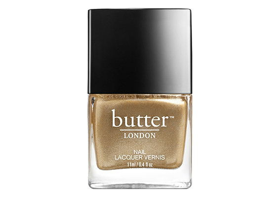 мерцающий золотой оттенок лака для ногтей «The Full Monty» от Butter London