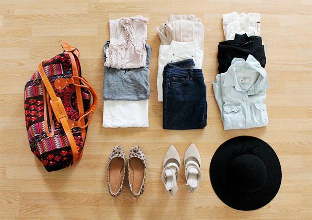 Как модно путешествовать летом 2014 с одним чемоданном/сумкой: 12 вещей, 8 образов