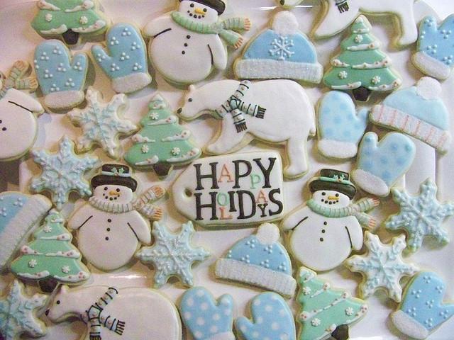 Как приготовить различное декоративное печенье на Новый год - идеи дизайнов, пастельные оттенки