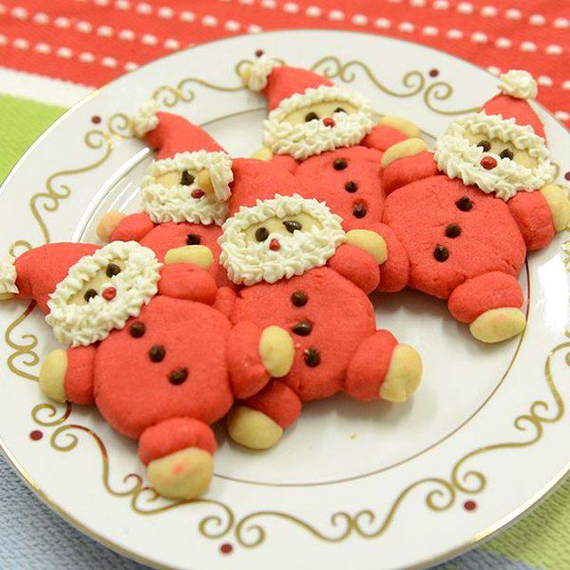Как приготовить различное декоративное печенье на Новый год - Санта Клаус или Дед Мороз