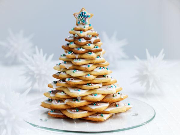 Как приготовить различное декоративное печенье на Новый год - Елочки из сахарного печенья