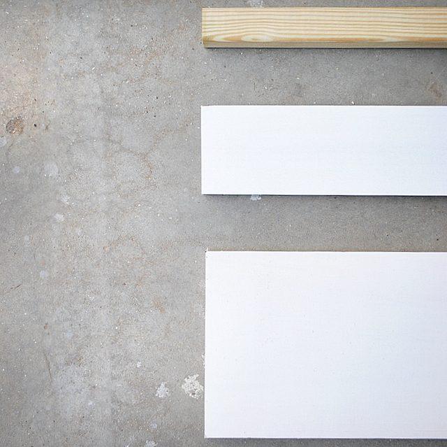 Как сделать самые простые деревянные «парящие» полки стандартного размера - Исходные детали