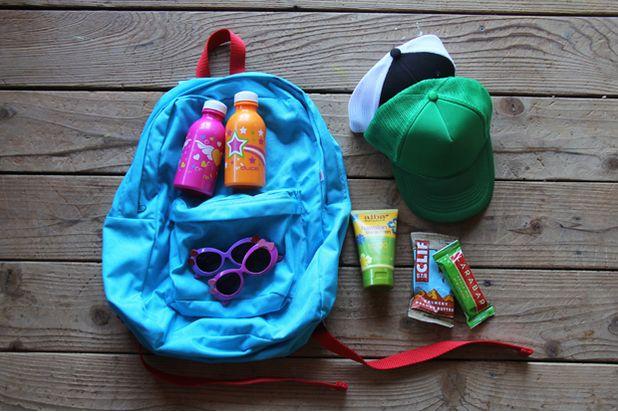 походные вещи для детского рюкзака