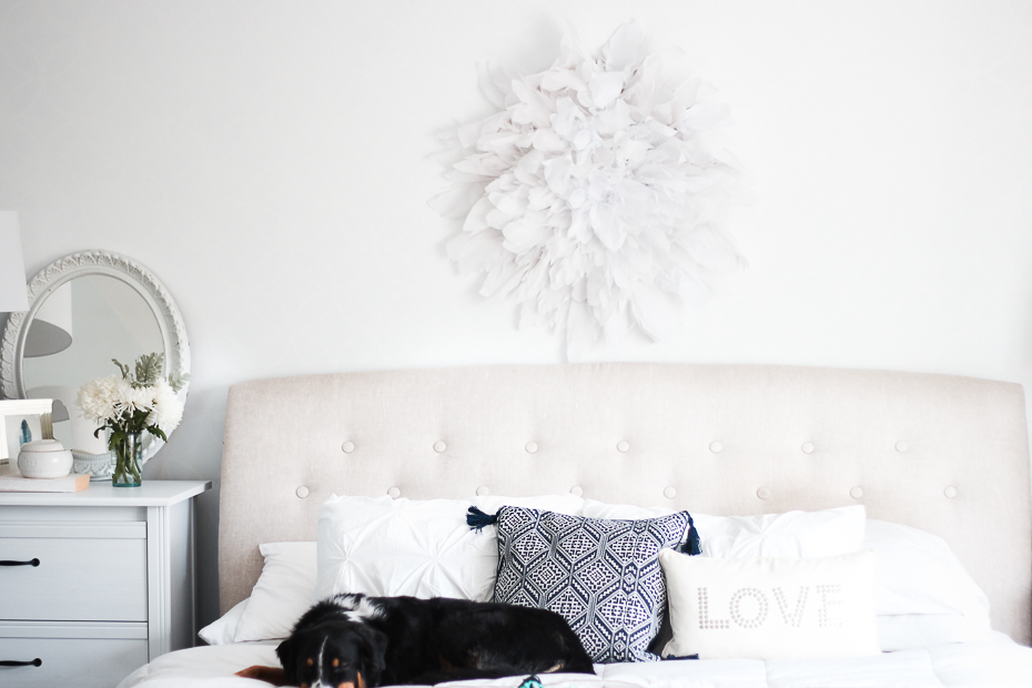 Как сделать круглое панно в стиле шебби-шик для спальни