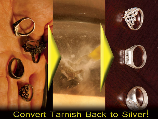 Как отчистить даже самое загрязненное серебро легким научным способом