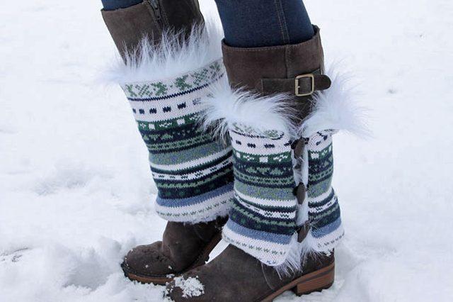 Как сделать из зимних высоких сапог унты или украсить/утеплить слишком простые осенние сапоги