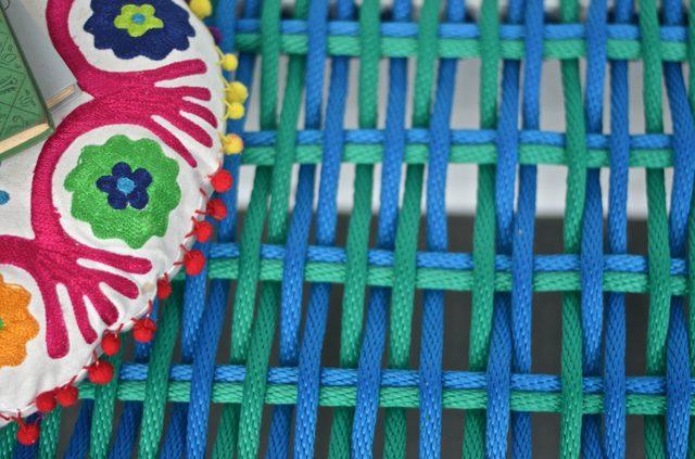Готовая скамья из журнального столика своими руками - схема плетения, макро