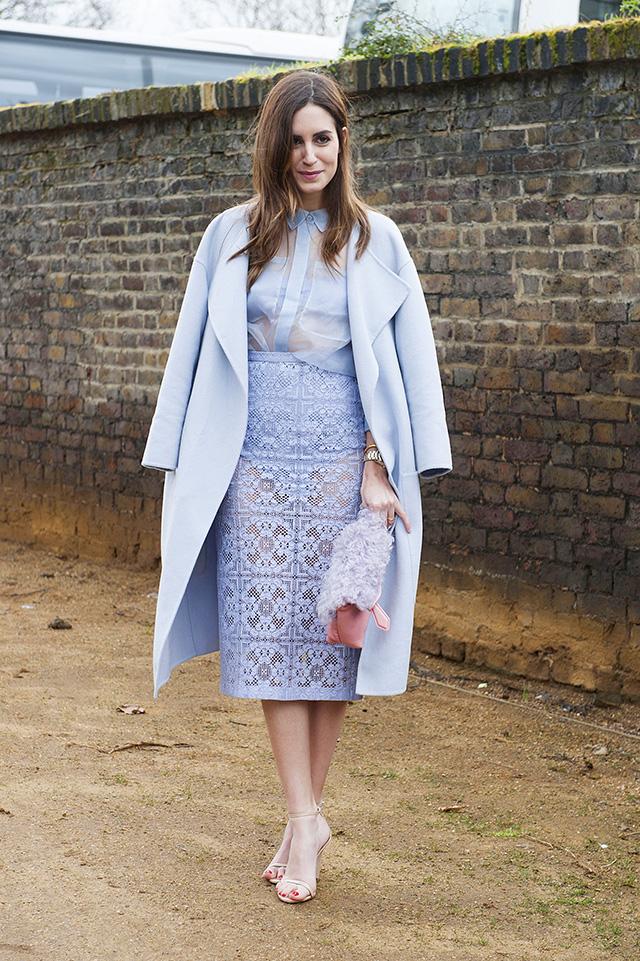 мода лето 2014: пастельные оттенки - один пастельный тон с головы до ног