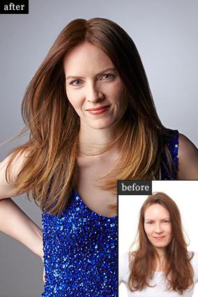 Придать сияние и объем унылым коричневым волосам - до и после профессионального окрашивания волос