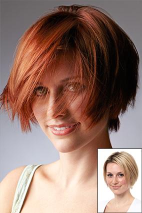 Превратить пережженную блондинку в насыщенно-темно-рыжую - снимок до и после профессионального окрашивания