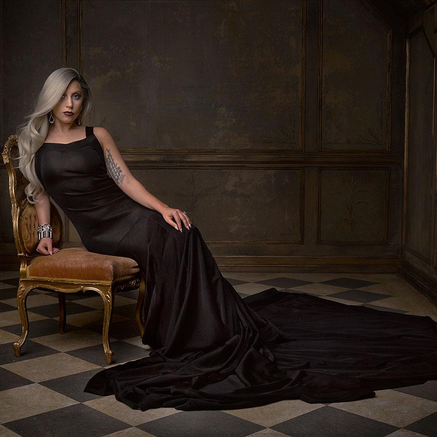 Леди Гага на афтепати от журнала Vanity Fair после Оскара