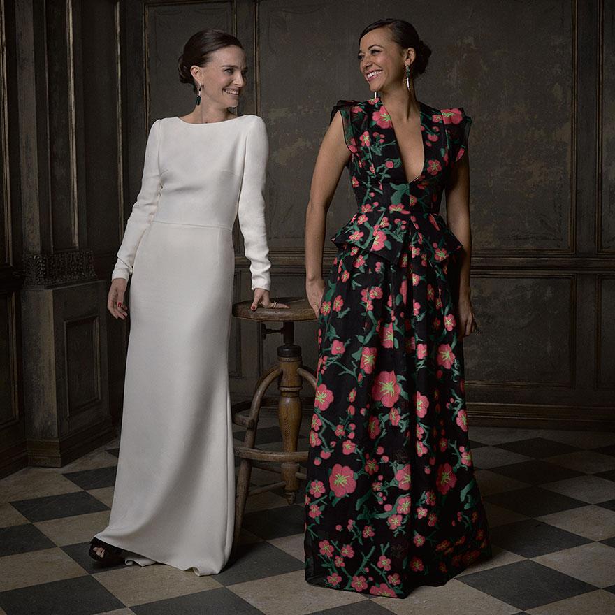 Натали Портман и рашида Джонс на афтепати от журнала Vanity Fair после Оскара