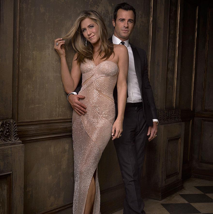 Дженифер Энистон и Джастин Теру на афтепати от журнала Vanity Fair после Оскара
