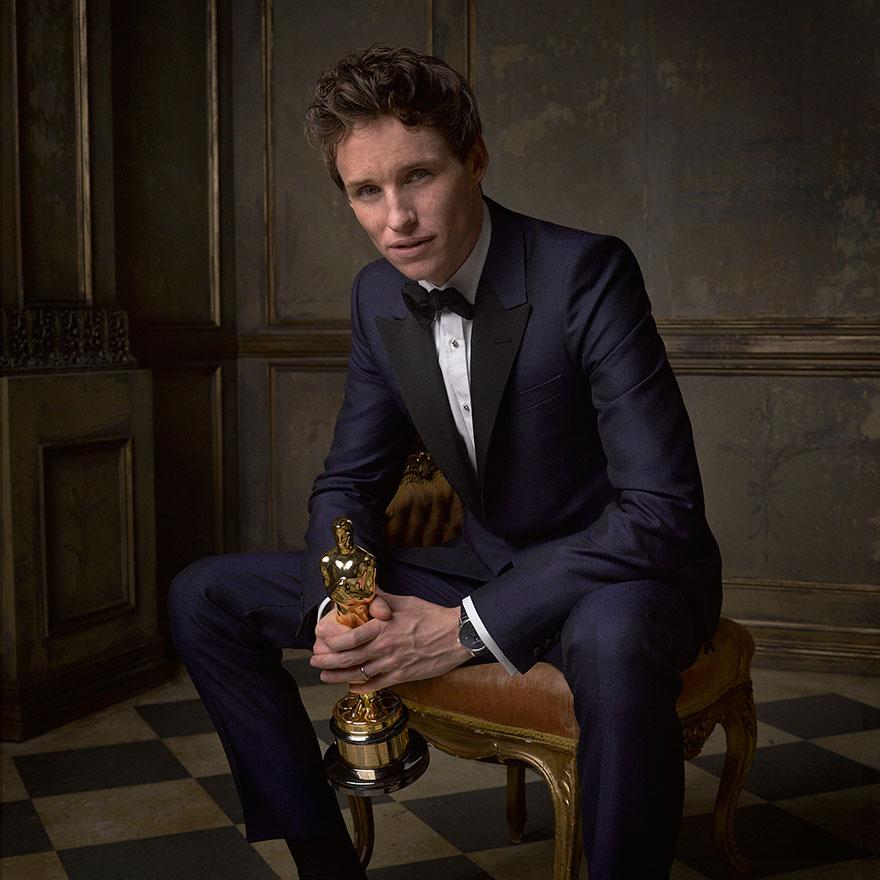 Эдди Редмэйн на афтепати от журнала Vanity Fair после Оскара