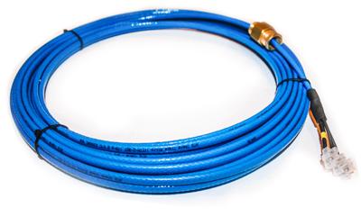 Установите электрический кабель для обогрева труб