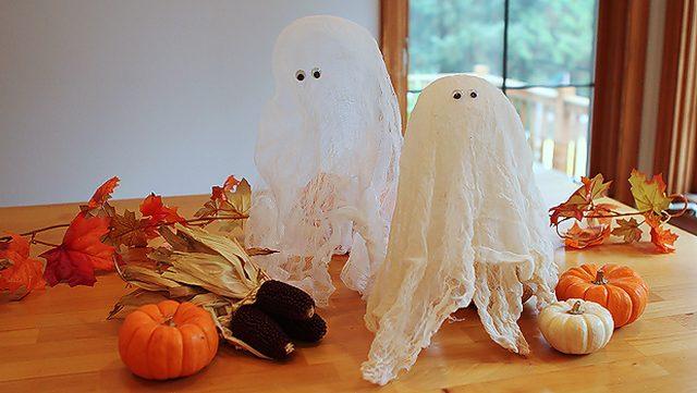 Готовые жесткие привидения из марли своими руками