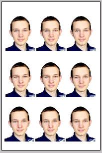 Как самому сделать 9 фотографий 3х4?