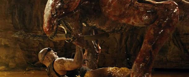 фильм «Риддик 3» (Riddick) 2013, осень, кадр из фильма, Риддик против хищника