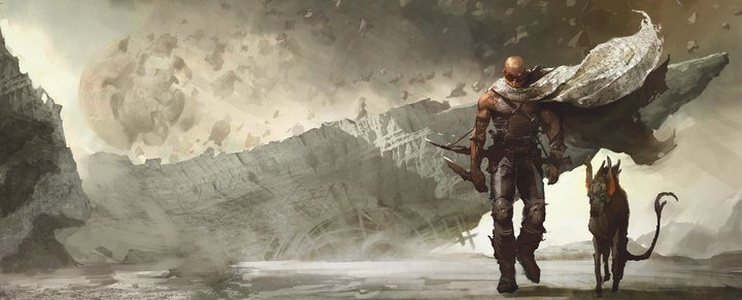 фильм «Риддик 3» (Riddick) 2013, осень, зарисовка на тему, рисунок