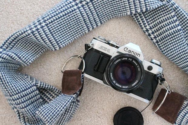 Как сделать ремень для фотоаппарата/сумки из осеннего/зимнего шарфа