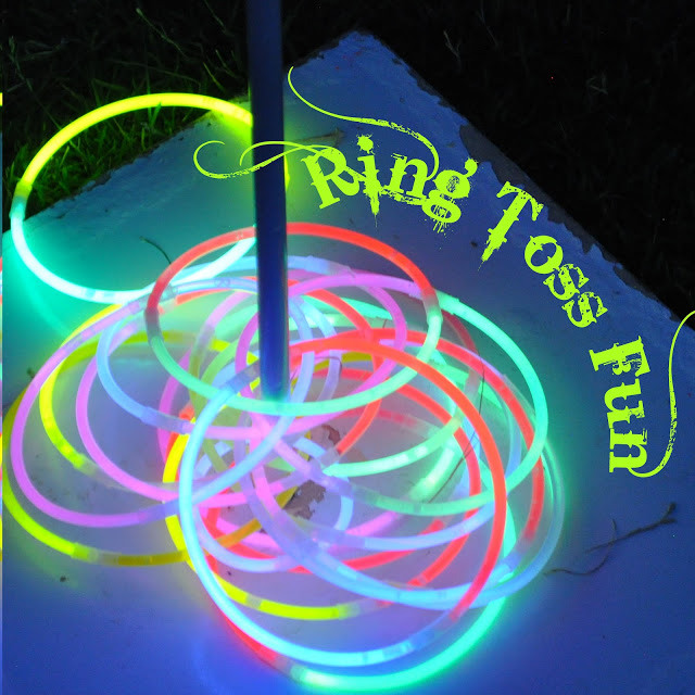 Как креативно развлечь детей на даче: улица, светящееся серсо (кидаем кольца на колышек)