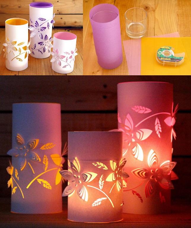Готовые волшебные резные фонарики из пластиковых бутылок и бумаги своими руками